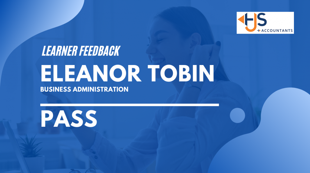 Learner story – Eleanor Tobin – Pass