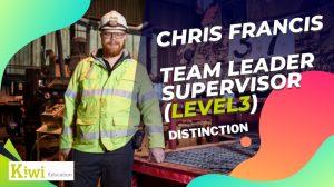 Learner story – Chris Francis – Distinction